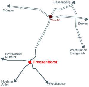 Carte Freckenhorst